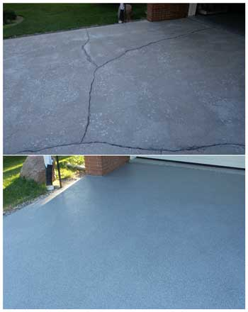 Repair Resurface Concrete Driveway